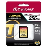 Карта памяти TRANSCEND SDXC 256 GB UHS-I Ultimate U3