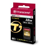Карта памяти TRANSCEND SDHC 32 GB UHS-II Ultimate U3